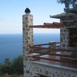 הבתים אל מול הים האגאיי